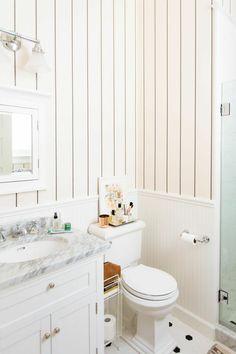 cute white bathroom