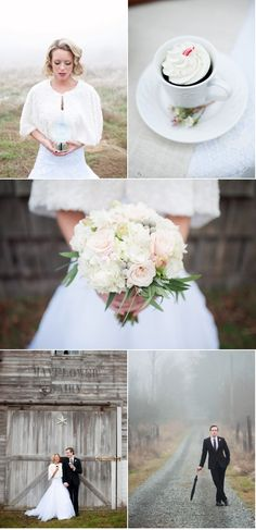 Bright white against the dark, gloomy skies of winter.. Perfect. @Rock My Wedding #rockmywinterwedding