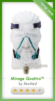 The Mirage Quattro Full Face Mask is an innovative design that features an advanced seal that adjusts for a better fit. This mask full face mask is a great solution if you have frequent nasal congestion. Click on the image above to see our product page!