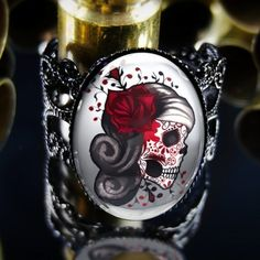 Tattoo Skull Punk Ring