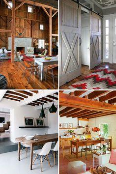 Barn Inspired Interiors....I want the rug