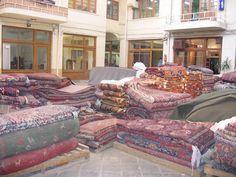 The rug section at the Tehran Bazaar