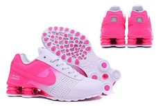 Womens Nike Shox Deliver Hyper Pink White Girl Sport Athletic Running Shoes - Wish list - Popular Nike Shoes, Cheap Nike Shoes Online, Wholesale Nike Shoes, Nike Shoes For Sale, Nike Shox For Women, Nike Running Shoes Women, Pink Running Shoes, Nike Women, Pink Shoes