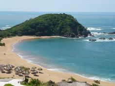 Beautiful bay in Huatulco Mexico