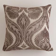 Rain Drum Art Nouveau Chenille Throw Pillow at Cost Plus World Market >>#WorldMarket Maison De Artistes Collection