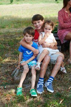 Princess Athena with brothers, Prince Nikolai and Felix