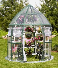 Don't have a need for a greenhouse all year? Renting Here is a great idea. A Pop - Up - Greenhouse