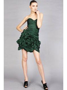 Taffeta Strapless Sweetheart Neckline Fitted skirt Cocktail Dress