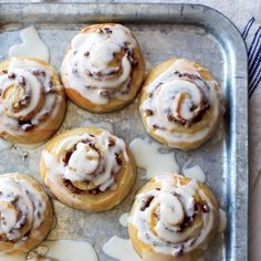 Glazed Cinnamon Rolls with Pecan Swirls | Food & Wine
