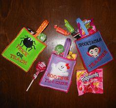 In The Hoop Halloween Teacher Treat Bag Embroidery Machine Design Set on Etsy, $4.49
