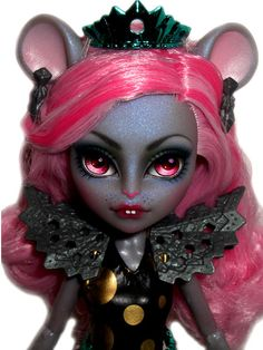☠ OOAK custom Monster High doll repaint Mouscedes King rat goth bjd ☠ #MonsterHigh