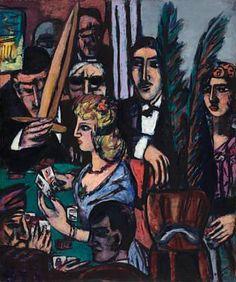 Card Players & Watchers by Max Beckmann (German: 1884 - 1950) ~Repinned Via Leisa Shannon Corbett Art Studio