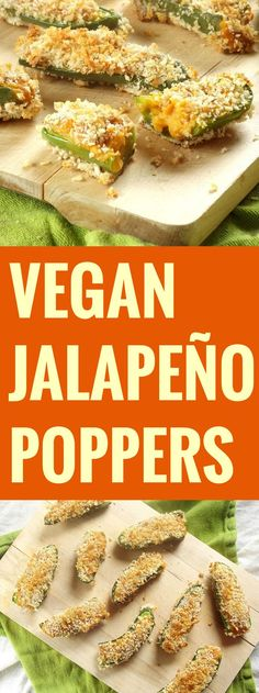 Jalapeno Poppers with Sweet Potato Cheese (uses vegan milk. Cheese recipe in click thru link)Vegan Jalapeno Poppers with Sweet Potato Cheese (uses vegan milk. Cheese recipe in click thru link) Vegan Apps, Vegan Foods, Vegan Snacks, Vegan Dishes, Veggie Recipes, Whole Food Recipes, Vegetarian Recipes, Cooking Recipes, Dinner Recipes