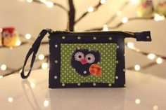 Owl Purse | Owl Wallet | Handmade Owl | One of a Kind Owl | Happy Owl by TechiePrincesa, $40.00 #owlwallet #owlpurse