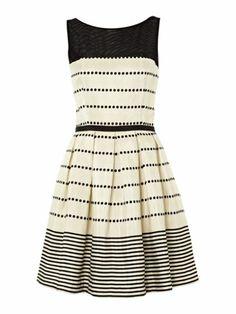 Untold Mesh top dress dress Black & Ivory - House of Fraser