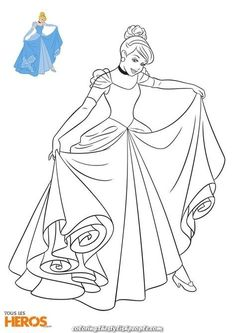 Elegant This week, All Heroes gives you to print 5 new Disney Princess coloring pages: discover Rapunzel, Snow White, Cinderella, Aurora and Belle! Cinderella Coloring Pages, Barbie Coloring Pages, Disney Princess Coloring Pages, Cartoon Coloring Pages, Coloring Book Pages, Disney Princess Colors, Disney Princess Cinderella, Disney Colors, Princesses Disney