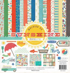 Echo+Park+-+Walking+On+Sunshine+Collection+-+12+x+12+Collection+Kit+at+Scrapbook.com