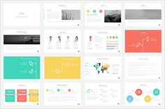 Maya Presentation Template by Ryanda on Creative Market Powerpoint To Pdf, Professional Powerpoint Templates, Business Powerpoint Templates, Keynote Template, Presentation Layout, Presentation Templates, Background Powerpoint, Ppt Design, Data Charts