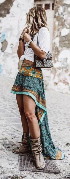 Gypsy look - Boho Chic Gypsy Look, Look Boho Chic, Boho Summer Outfits, Hipster Outfits, Boho Outfits, Casual Outfits, Dress Summer, Dress Outfits, Hippie Style