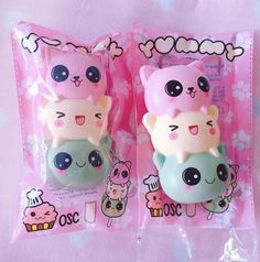 *Exclusive!* Yummiibear the icecream bear (open eyes) Squishy ~ Creamiicandy x Puni Maru