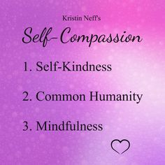 Shame is the feeling of being unworthy of love and belonging. It's a painful emotion, and the main reason I practice Kristin Neff's self-compassion elements, but treating ourselves with…
