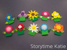 Flannel Friday: Flower Finger Puppets & Planting a Rainbow – storytime katie Planting A Rainbow, Flannel Board Stories, Flannel Boards, Toddler Storytime, Art For Kids, Crafts For Kids, Flannel Flower, Puppets For Kids, Flannel Friday
