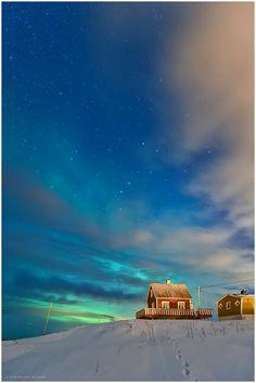 Turquoise Aurora & Stars - Lofoten, Norway
