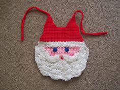 Crocheted Santa Bib pattern by Diane Oxner~  [Out of print: this source is out of print] Crafting Traditions Nov/Dec 1997
