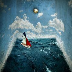 boats photos art | Surreal Boat by Thirsha6