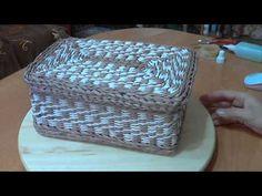мк коробки с рисунком из веревочки часть 1 - YouTube