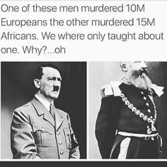If you're wondering who the guy on the right is, his name is King Leopold II of Belgium, otherwise known as The Butcher of the Congo