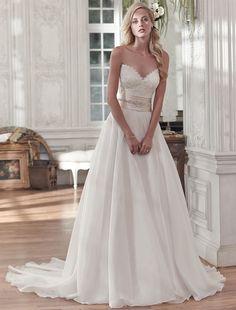 Bridesire -    A-linja Sydän Hihaton Hääpuku [158551] - €204.26 : Bridesire