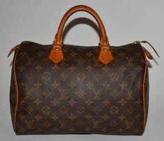 Louis Vuitton Monogram Speedy 30 Brown Satchel. Save 77% on the Louis Vuitton…