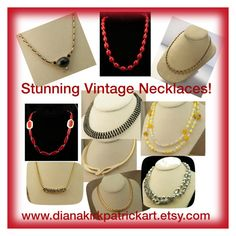 """Stunning Vintage Necklaces!"" by diana-32 ❤ liked on Polyvore featuring Sarah Coventry, Liz Claiborne, Monet, Napier and vintage"