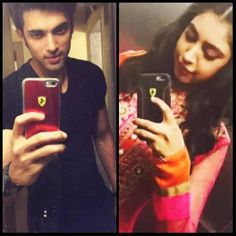 Selfie king parth samthaan and mrs queen niti Taylor