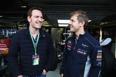 Michael Fassbender & Sebastian Vettel at the Canadian F1 Grand Prix Qualifying