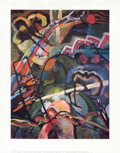 Wassily Kandinsky - Composition storm - jetzt bestellen auf kunst-fuer-alle.de