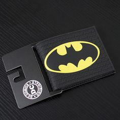 ab3addc1fc7c DC Marvel Comics Men PVC Wallet 3.45 inch Dollar Bags Batman Anime Prints  Card Holder Purse Leather Black Wallets billeteras - ShopShopShip