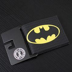 63e18832681a DC Marvel Comics Men PVC Wallet 3.45 inch Dollar Bags Batman Anime Prints  Card Holder Purse Leather Black Wallets billeteras - ShopShopShip