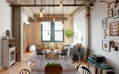 Un espace industriel rustique chic à Chicago - PLANETE DECO a homes world