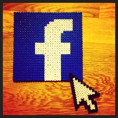 Facebook coaster hama beads by buzzconseils