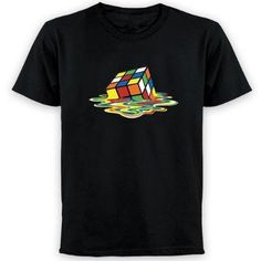 The Big Bang Theory (S05E11 - The Speckerman Recurrence): Sheldon (Jim Parsons) wears the same black 'Melting Rubik's Cube' t-shirt when Leonard (Johnny Galecki) receives a painful email from an old schoolmate who bullied him & wants to meet him again. Click for an ORIGINAL scene pic & find out where to get your own one.