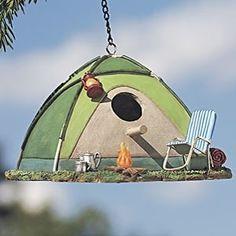 cute tent birdhouse