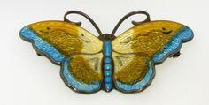 Vintage Vibrant Multi Colored Enamel Sterling Silver Butterfly Pin Brooch 9g | eBay