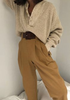 Linen Townes Pants / Multiple Colors M / White Mode Outfits Sommer Look Fashion, 90s Fashion, Winter Fashion, Fashion Outfits, Korean Fashion, High Fashion, Fashion Skirts, Fashion Hats, French Fashion