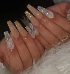 Bling Acrylic Nails, Acrylic Nails Coffin Short, White Acrylic Nails, Summer Acrylic Nails, Best Acrylic Nails, Coffin Nails, Nagel Bling, Long Square Acrylic Nails, Nagellack Design