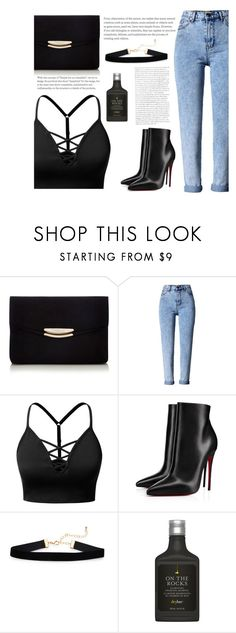 """""""night out"""" by samkitten69 ❤ liked on Polyvore featuring J.TOMSON, Christian Louboutin and Drybar"""