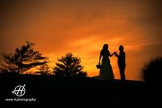 Wedding  Photo in Sunset   in Naperville   Monica and Gerry  # Wedding at White Eagle Golf Club  # photo session around the golf course # Wedding in August  Photo by: Doru Halip for  www.h.photography