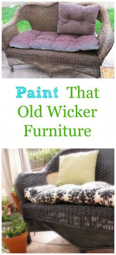 Don't throw that old wicker furniture away, PAINT IT!  Step by step tutorial.
