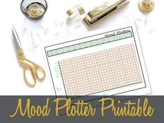 Mood Plotter Printable Insert Anxiety Tracker by ThreeWithATwist